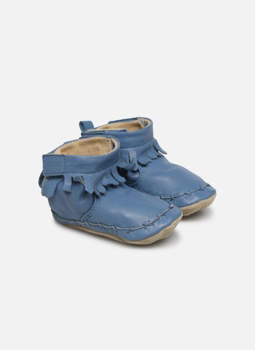 Pantuflas Robeez Funky Shoe Azul vista de detalle / par