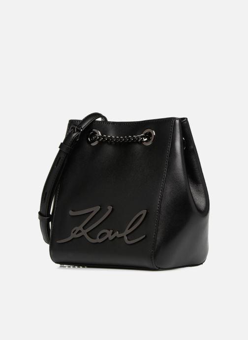 Handtassen KARL LAGERFELD K Signature Bucket Bag Zwart model