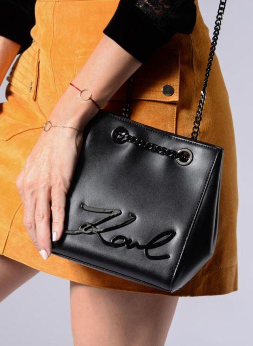 Handtassen KARL LAGERFELD K Signature Bucket Bag Zwart boven