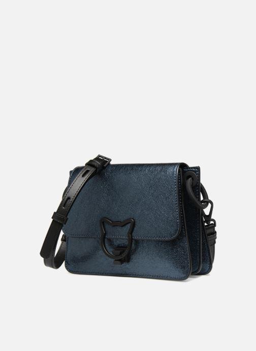 Handtaschen KARL LAGERFELD K Kat Lock Metal silber schuhe getragen