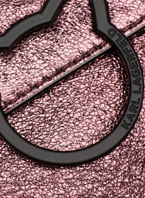 Handtaschen KARL LAGERFELD K Kat Lock Metal rosa ansicht von links
