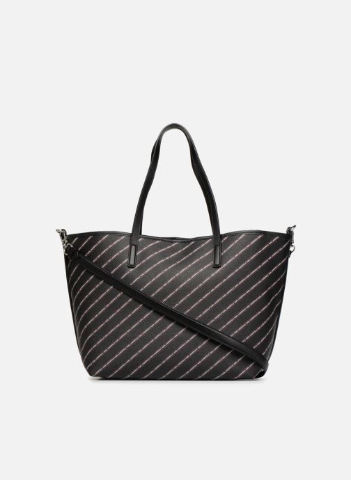 Sacs à main Karl Lagerfeld K Stripe Logo Shopper Noir vue face