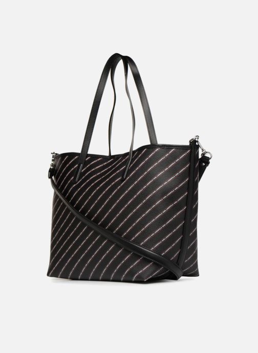 Sacs à main KARL LAGERFELD K Stripe Logo Shopper Noir vue droite