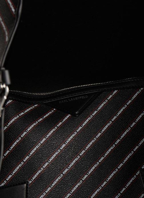 Sacs à main KARL LAGERFELD K Stripe Logo Shopper Noir vue derrière