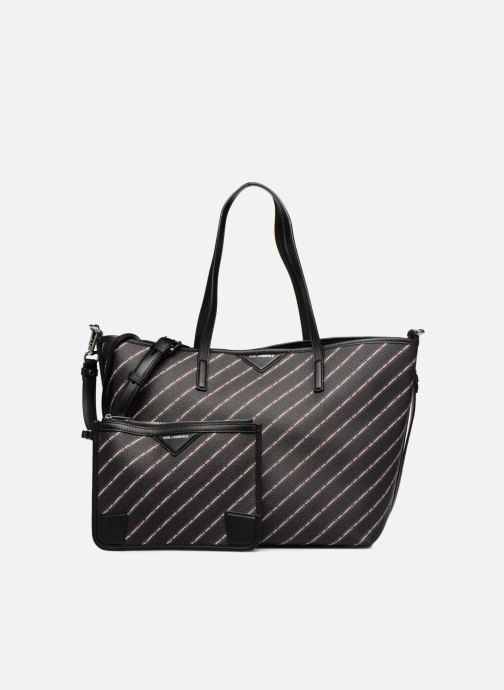 Handtassen KARL LAGERFELD K Stripe Logo Shopper Zwart links