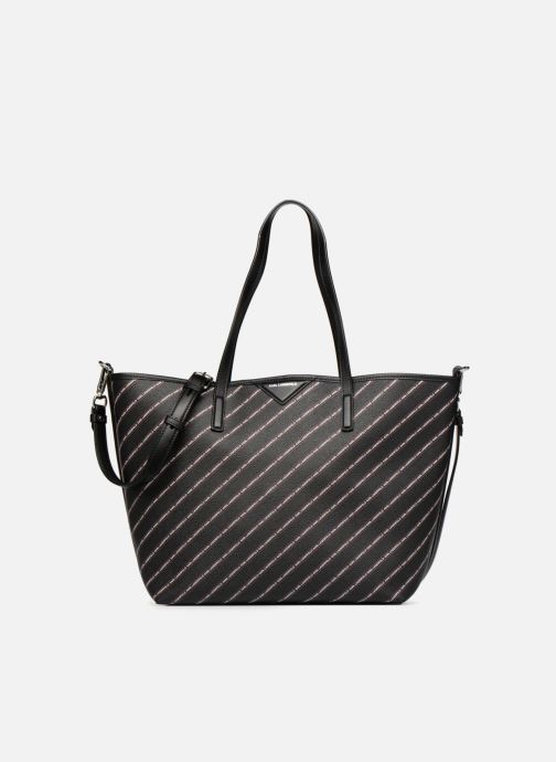 Borse KARL LAGERFELD K Stripe Logo Shopper Nero vedi dettaglio/paio