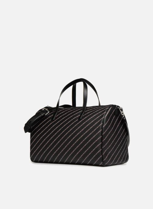 Sacs de sport Karl Lagerfeld K Stripe Logo Weekender Noir vue portées chaussures