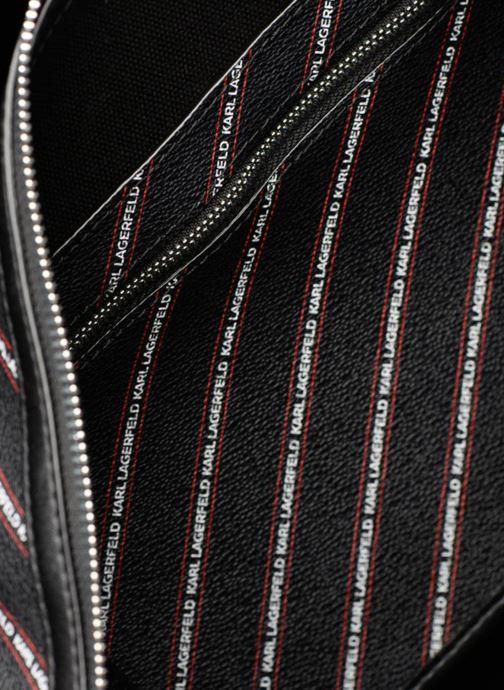 Sporttassen KARL LAGERFELD K Stripe Logo Weekender Zwart achterkant