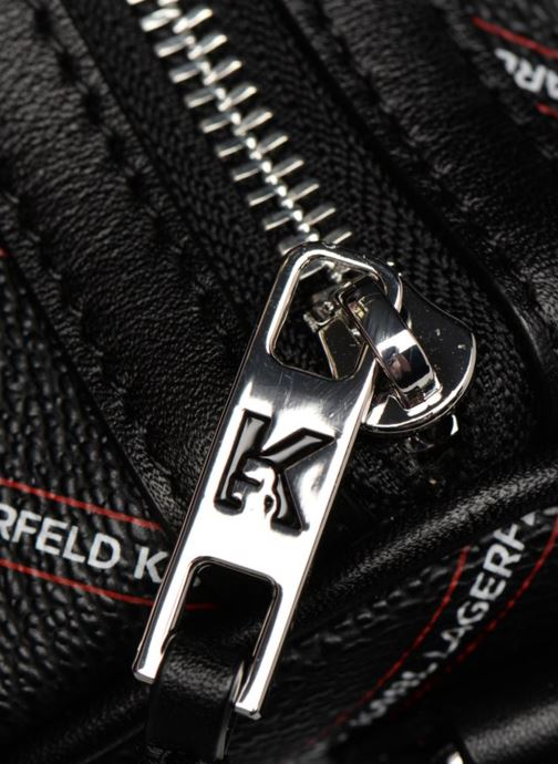 Sporttassen KARL LAGERFELD K Stripe Logo Weekender Zwart links