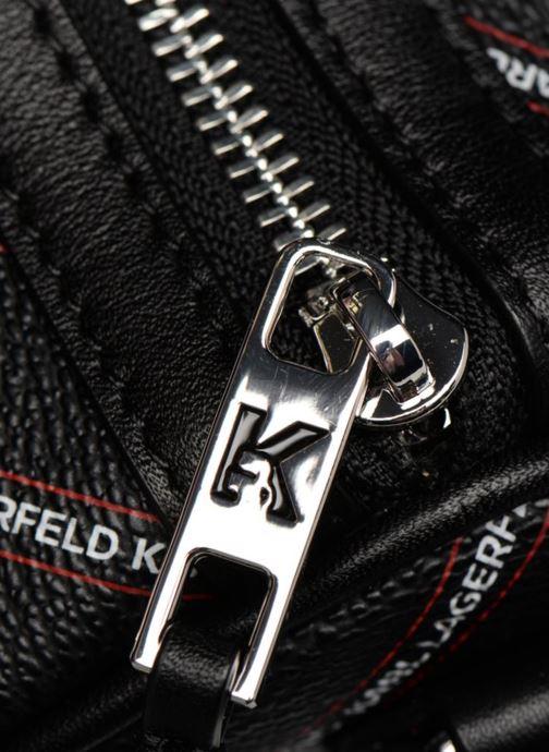Sacs de sport Karl Lagerfeld K Stripe Logo Weekender Noir vue gauche