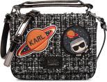 K Space Tweed Shoulder Bag