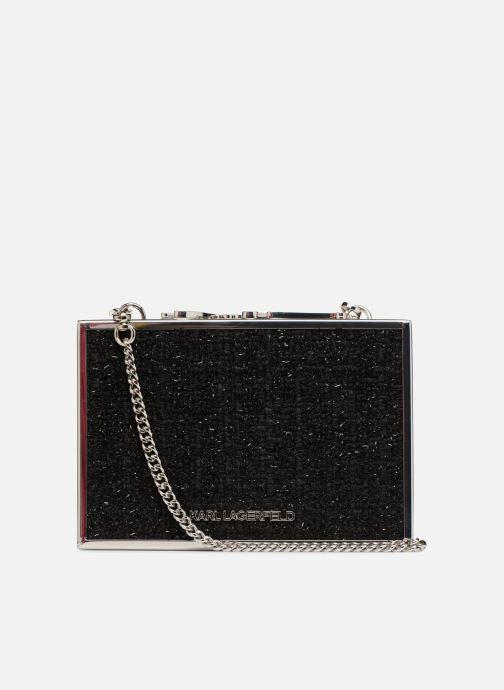 Handtaschen KARL LAGERFELD K Pins Tweed Minaudière schwarz ansicht von vorne