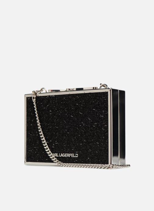 Handtaschen KARL LAGERFELD K Pins Tweed Minaudière schwarz ansicht von rechts