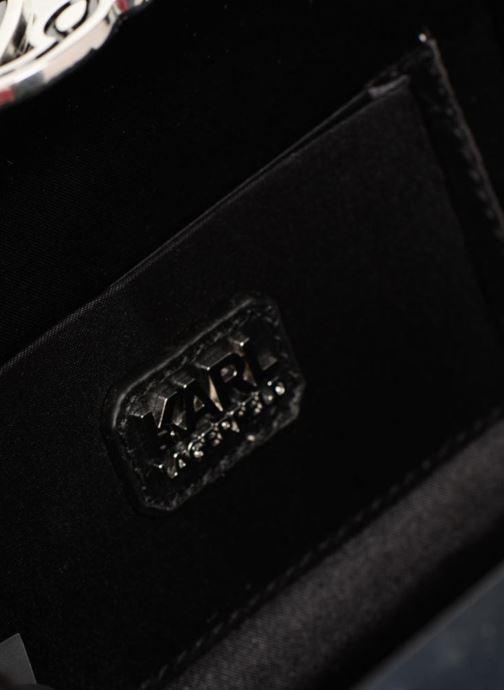 Handtaschen KARL LAGERFELD K Pins Tweed Minaudière schwarz ansicht von hinten