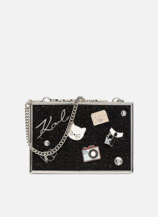 Handtaschen KARL LAGERFELD K Pins Tweed Minaudière schwarz detaillierte ansicht/modell