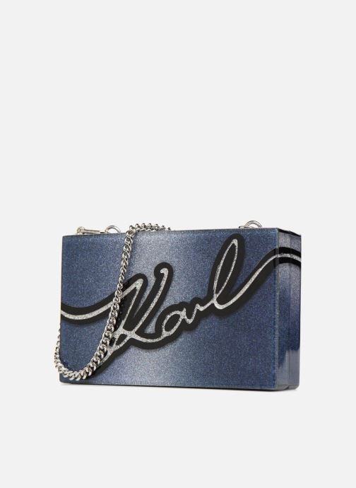 Bolsos de mano KARL LAGERFELD K Love Minaudière Azul vista del modelo