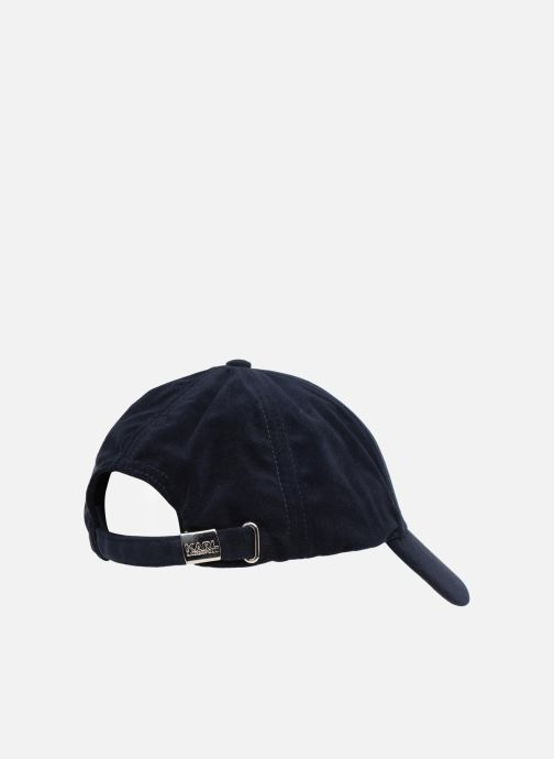 Kappe KARL LAGERFELD K Signature Velvet Cap blau schuhe getragen