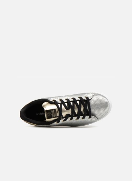 Trainers Victoria Deportivo Lentejuelas Silver view from the left