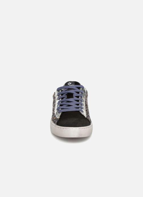 Baskets Victoria Deportivo Glitter Contraste Argent vue portées chaussures