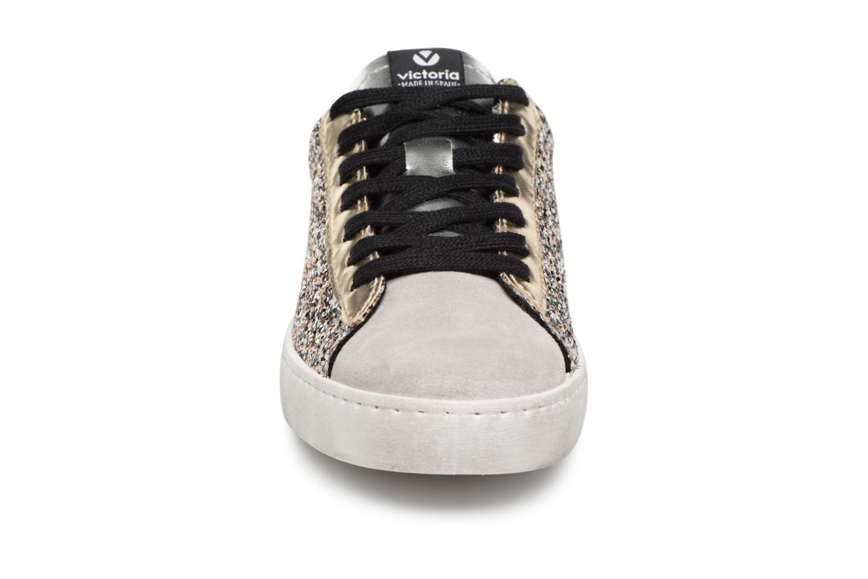 Sneaker Victoria Deportivo Glitter Contraste silber schuhe getragen