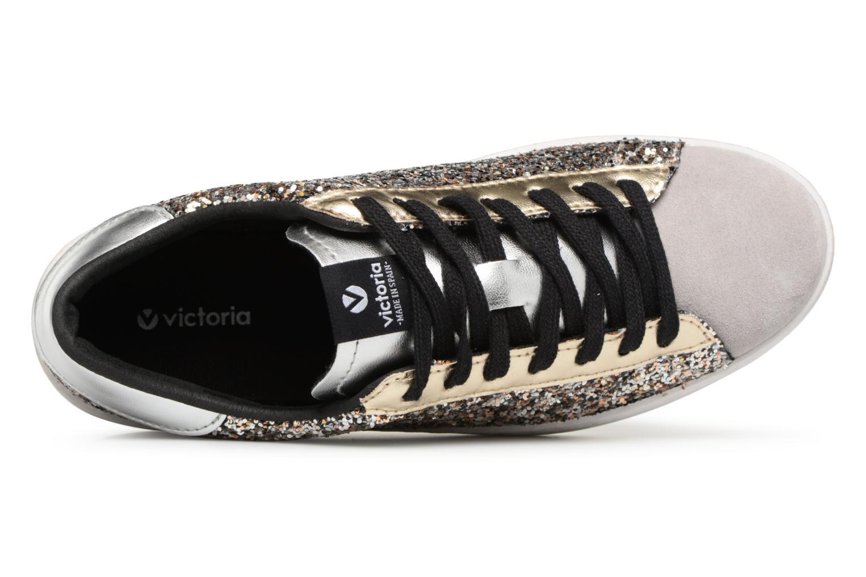 Sneaker Victoria Deportivo Glitter Contraste silber ansicht von links