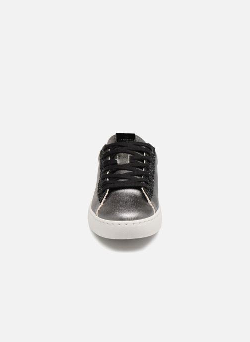 Baskets Victoria Deportivo Lona Metal/Glitter Argent vue portées chaussures