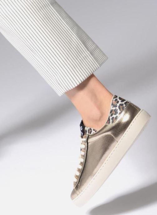 Sneaker Victoria Deportivo Brillo/Leopardo gold/bronze ansicht von unten / tasche getragen