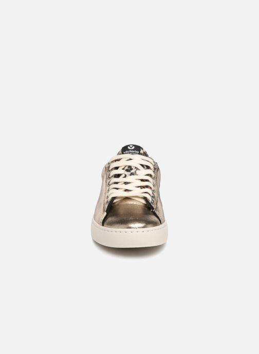 Baskets Victoria Deportivo Brillo/Leopardo Or et bronze vue portées chaussures