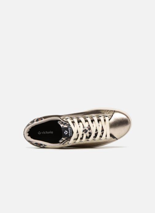 Sneaker Victoria Deportivo Brillo/Leopardo gold/bronze ansicht von links