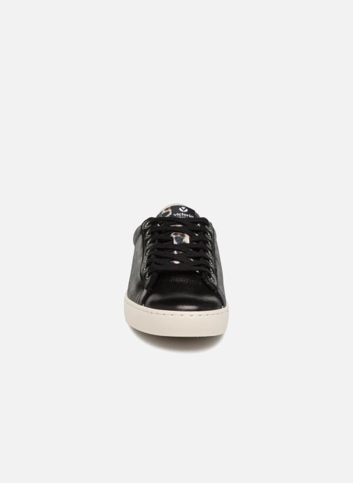 Baskets Victoria Deportivo Brillo/Leopardo Noir vue portées chaussures