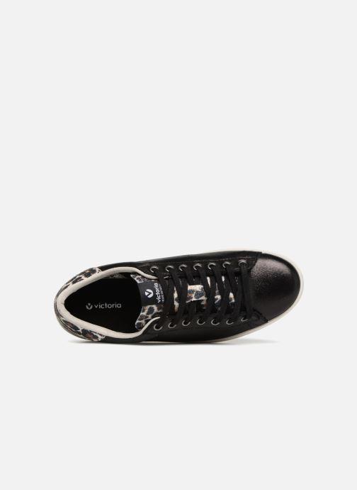 Sneaker Victoria Deportivo Brillo/Leopardo schwarz ansicht von links