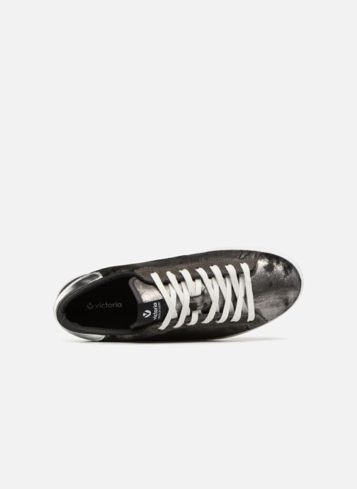 Trainers Victoria Deportivo Terciopelo Metal Silver view from the left