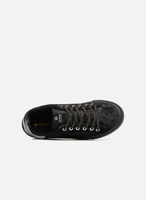 Trainers Victoria Deportivo Terciopelo Black view from the left