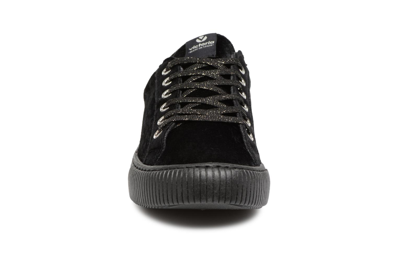 Sneaker Victoria Deportivo Terciopelo schwarz schuhe getragen