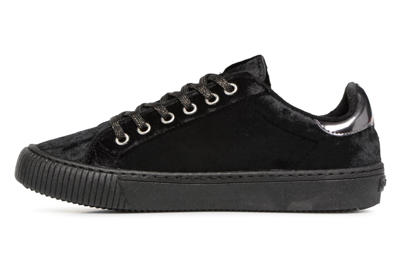 Sneaker Victoria Deportivo Terciopelo schwarz ansicht von vorne