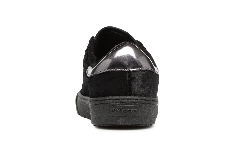Sneaker Victoria Deportivo Terciopelo schwarz ansicht von rechts