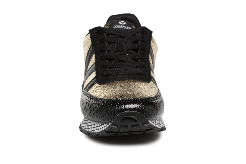 Sneaker Victoria Deportivo Ciclista Metal schwarz schuhe getragen