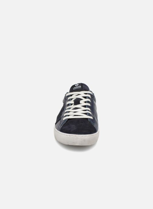 Baskets Victoria Deportivo Piel/Serraje Bleu vue portées chaussures