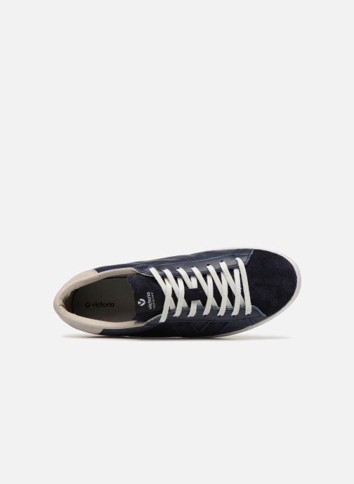 Sneakers Victoria Deportivo Piel/Serraje Blauw links