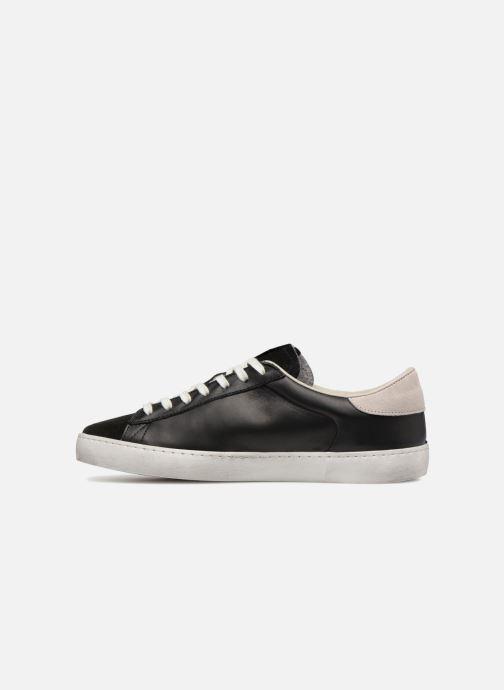 Sneakers Victoria Deportivo Piel/Serraje Nero immagine frontale