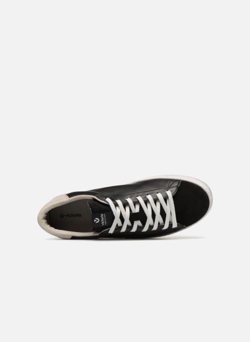 Sneakers Victoria Deportivo Piel/Serraje Nero immagine sinistra