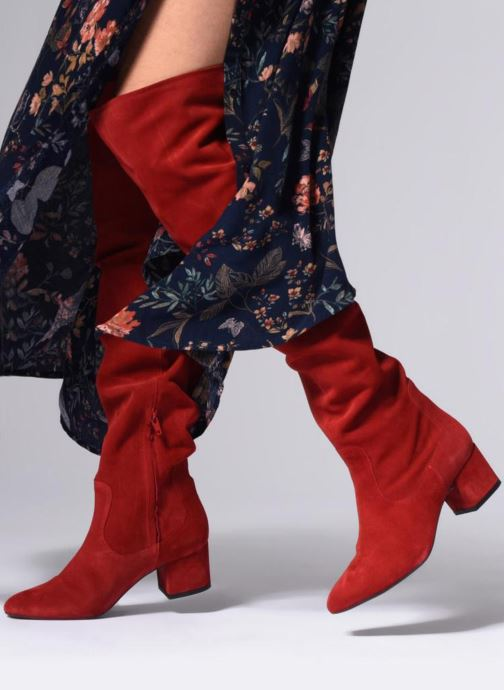 Boots & wellies Made by SARENZA Toundra girl Bottes #3 Red view from underneath / model view