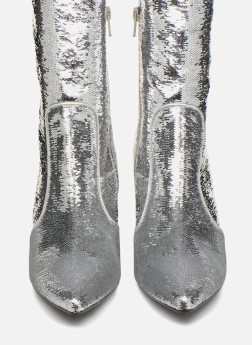 Bottes Made by SARENZA 80's Disco Girl Bottes #3 Argent vue portées chaussures