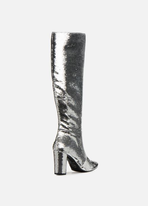 Bottes Made by SARENZA 80's Disco Girl Bottes #3 Argent vue face