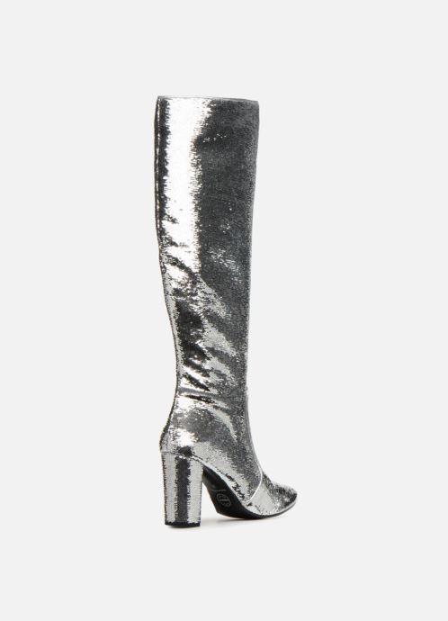 Stiefel Made by SARENZA 80's Disco Girl Bottes #3 silber ansicht von vorne