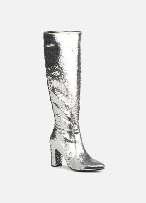 Bottes Made by SARENZA 80's Disco Girl Bottes #3 Argent vue droite