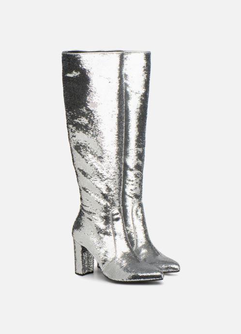 Stiefel Made by SARENZA 80's Disco Girl Bottes #3 silber ansicht von hinten