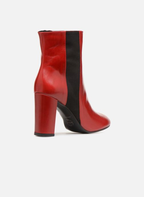 Ankle boots Made by SARENZA Busy Girl Bottines à Talons #8 Red front view