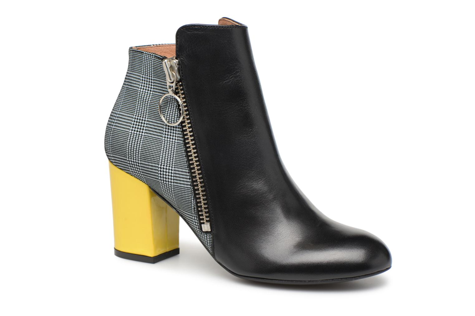 Noirprince Cuir 10 Made Bottines Sarenza De Gallesjaune Talons Girl à By Busy Multi zw4zvqT