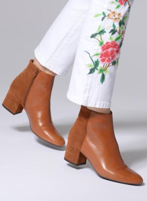Bottines et boots Made by SARENZA Toundra Girl Bottines à Talons #8 Marron vue bas / vue portée sac